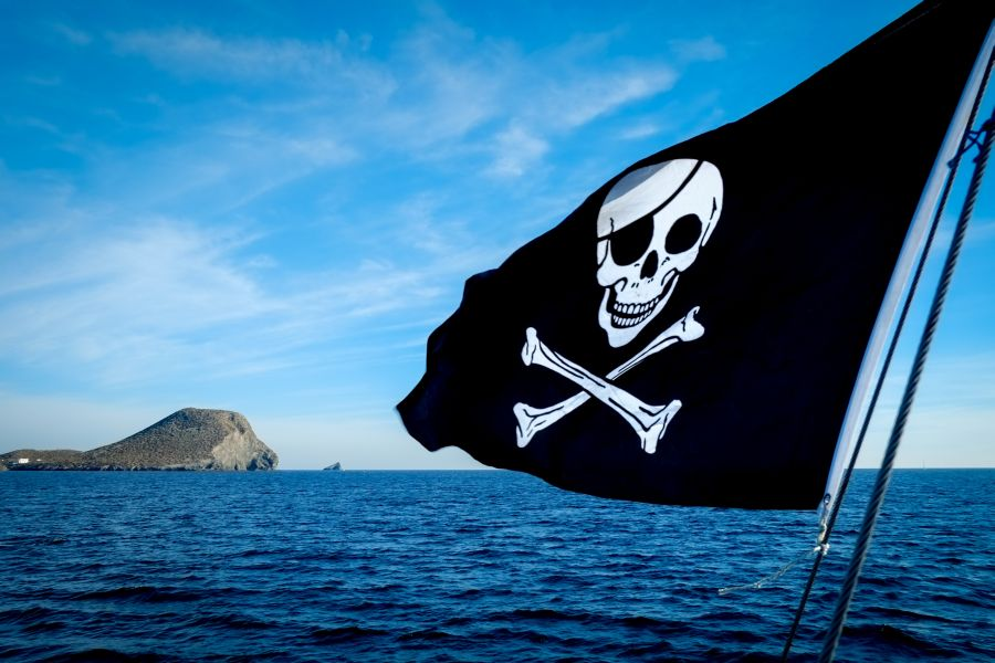 Флаги кораблей пиратских капитанов